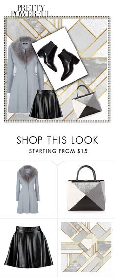 """Pretty powerful"" by aamila12345678 ❤ liked on Polyvore featuring Fendi and Boohoo"