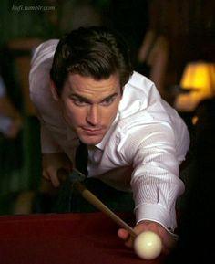 Ohhhhh! Matt playing pool.. sounds most like Christian Grey