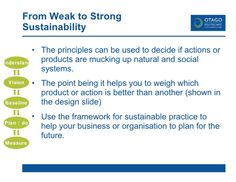 From Weak to Strong Sustainability