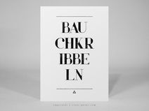 ► typocard | bauchkribbeln | T069 Postkarte