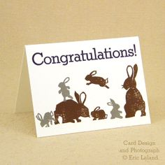 Letterpress Greeting Card Congratulations by LelandManufactory, $4.00