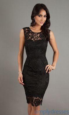 Classy yet Sexy  Sleeveless Lace Cocktail Dress, Party Dress - Simply Dresses