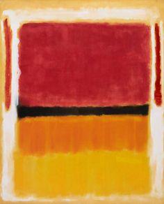 """ Violet, Black, on Orange, Yellow on White and Red"", Rothko"