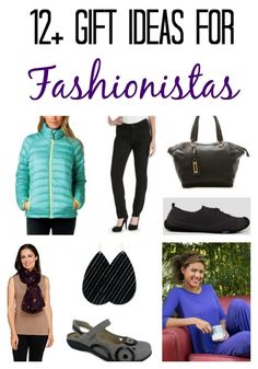 12+ gift ideas for fashionistas or women and teenage girls who love clothing and accessories. Christmas gifts including jeans, coats, handbags, jewelry, accessories & more!