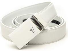White Leather Belts for Men