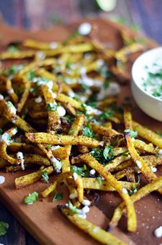 Spicy Baked Jicama Fries!  With just under half the calories, about half the carbohydrates, and more than double the dietary fiber of a white potato. Jicama makes for a great, healthy side dish.  You'll love this guilt-free spin on french fries!  | hostthetoast.com