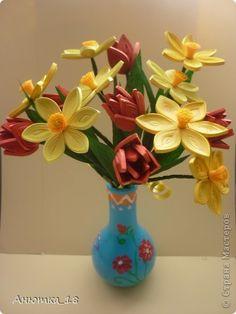 Тюльпаны и нарциссы - любимые мартовские цветы! Эти хрупкие, нежные цветочки всегда приносят в дом дыхание весны! фото 2