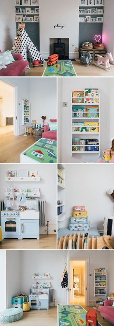 stylish but practical play room | Play room decor ideas | playroom storage | how to lay out a play room
