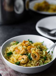 Low Carb Recipes To The Prism Weight Reduction Program Indian Shrimp Biryani Recipe - Wow Your Family With This Prawns Biryani Recipe. This Easy Recipe Can Be Made In The Instant Pot In About 40 Minutes. Prawn Biryani Recipes, Paneer Recipes, Curry Recipes, Shrimp Recipes, Indian Food Recipes, Vegetarian Recipes, Cooking Recipes, Ethnic Recipes, Easy Recipes