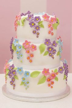 """Beautiful spring"" cake:"