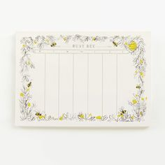 Coming Soon! Quill & Fox Busy Bee Planner