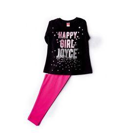 9094ca6ec780 Σετ Μπλούζα Μαύρη & κολάν φούξια #παιδικά_ρούχα #παιδικά_σετ  #σετ_για_κορίτσι #μπλούζα #κολάν
