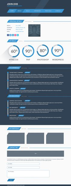 You can easy download this PSD template here: http://www.behance.net/gallery/Freebie-Free-PSD-Template-CV-page/11668967