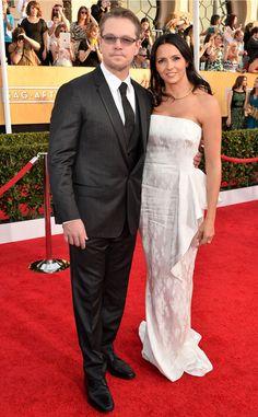 Matt Damon & Luciana Barroso from 2014 SAG Awards: Red Carpet Arrivals | E! Online