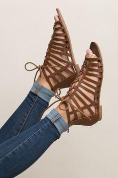 Making My Way Sandal in Chestnut | ShopDressUp.com