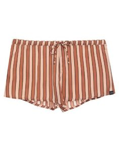 Maison Scotch Boyshorts In Brown Scottish Women, Scottish Fashion, Boy Shorts, Short Outfits, World Of Fashion, Luxury Branding, Stripes, Satin, Closure