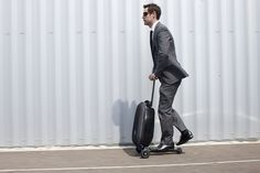Micro luggage scooter