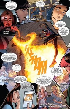 Miles avoiding the Green Goblin in Miles Morales: The Ultimate Spider-Man #4