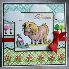 I had a pony that looked just like this! Shelty from Penny Black, card by Debbie Yates of A Scrapjourney Fun Fold Cards, Folded Cards, Horse Cards, Penny Black Cards, Pony Party, Art Impressions, Animal Cards, Card Maker, Creative Cards