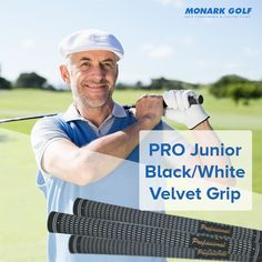 Find the the perfect golf grips to boost your performance at any level of play. We have a great selection of golf grips that are slip-resistant and shock absorbing. PRO Junior Black/White Velvet Grip for the best game.Buy Now! Golf Club Grips, Golf Grips, Famous Golfers, Womens Golf Wear, Ladies Golf Clubs, Golf Trolley, Golf Club Sets, Golf Tips For Beginners, Perfect Golf