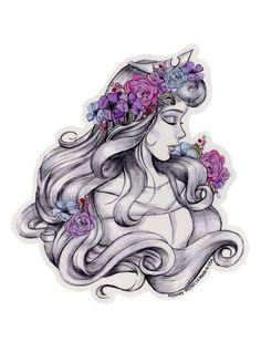 Disney Sleeping Beauty Sketch Sticker | Hot Topic | Princess ...