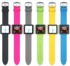 ipod nano watchband.  I have this, great if you are worried about loosing it.