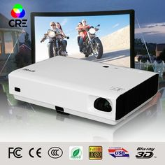 588.00$  Buy here - http://ali3pj.worldwells.pw/go.php?t=32777786708 - 2016 New arrival dlp short throw projector 1280*800P full HD 3000Lumens Best Small For Multimedia HDMI VGA HD projector 588.00$