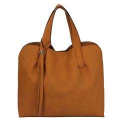 Sassysac Tote, Cognac ($38) via Polyvore featuring bags, handbags and tote bags
