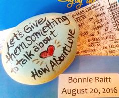 """104 Likes, 2 Comments - The Kindness Rocks Project (@thekindnessrocksproject) on Instagram: """"How about LOVE♡ #bonnieraitt #boston #lovewins  giving #rockconcert a new name…"""""""