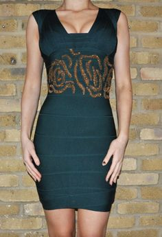 God I've seen so many bodycon & bandage dresses that it's getting so played out but I have to say I really like this one! Unique with the beaded details!