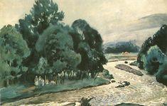 The River Bystra (Pejzaż letni z rzeką, Bystra) 1918