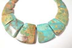The Martinique- Blue Jasper Statement Necklace