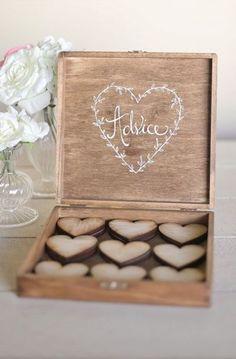 Rustic Wedding Guest Book Alternative Bridal Shower Keepsake Advice Box