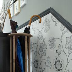 Wallpaper below the dado rail | 10 wallpaper ideas for hallways | Hallway wallpaper | PHOTO GALLERY