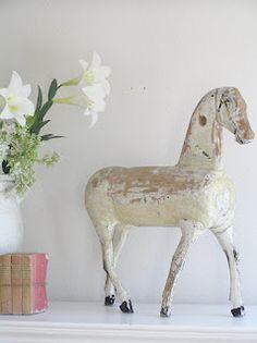 vintage white horse | Pastels and Whites