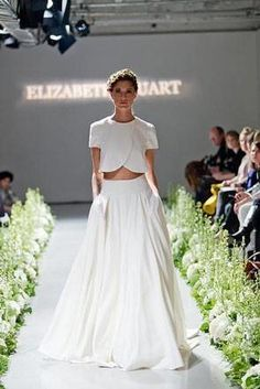 elegant crop top wedding dress with jacket inspired styling