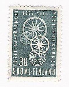 Postisäästöpankki 1886-1961 Postage Stamps, Finland, Denmark, Design, Stamps, Paper Envelopes, Historia, Design Comics