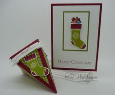 Chrismas Card and matching Gift Box made with Stampin' Up! products by www.ministamper.com