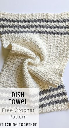 Cute crochet country dish towel adds great modern farmhouse style to your kitchen, or you could use them as hand towels in the bathroom. Pair them wit. Crochet Dish Towels, Crochet Kitchen Towels, Knit Kitchen Towel Pattern, Crochet Diy, Manta Crochet, Simple Crochet, Crochet Mandala, Double Crochet, Crochet Dishcloths