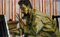 Bernard Buffet, Le Peintre Robert Mantienne (1945)