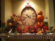 Fall Mantle decorations!