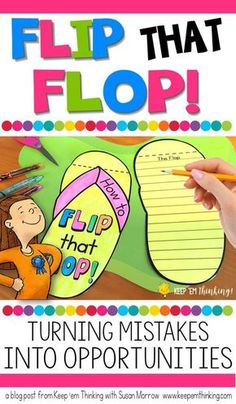 One of the greatest obstacles to a student's success is his/her reaction to mistakes. This fun and FREE Flip That Flop activity helps students view mistakes as a positive experience and turn mistakes into learning opportunities. This activity can be used by guidance counselors and teachers for students in grades 2 through 5.