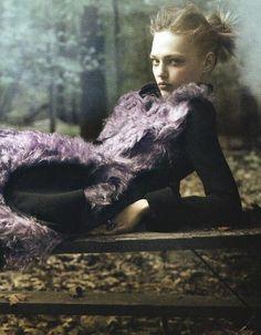 Sasha Pivovarova by Steven Miesel for Vogue US