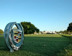 The Cadillac Tee Marker at The WGC-Cadillac Championship 2013 #golf #cadillac #Doral