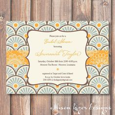 Sunburst Invitation