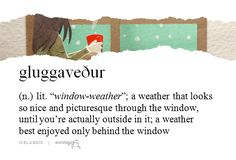 "word-stuck: ""gluggaveður (submitted by waitforfate) """