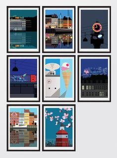 """Copenhagen """"An Icon a Day"""" postcards #Sivellink #Justspotted"""