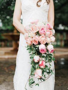 cascading rose bouquet
