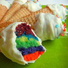 cupcake na casquinha de sorvete