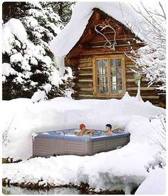 So during our snowstorm we went into the hot tub. It was wonderful and .....cold!